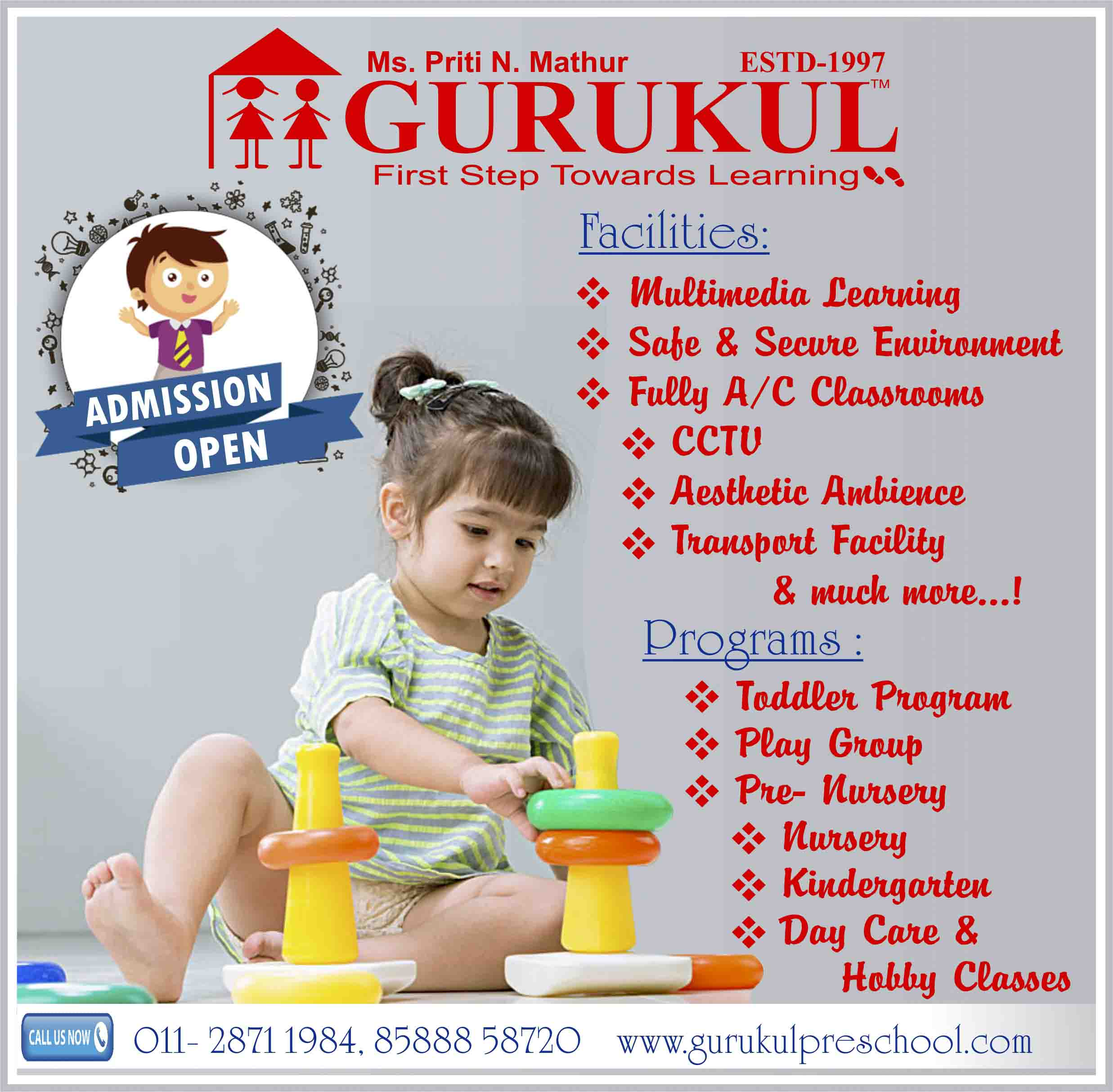 Admission Open for Gurukul Preschool